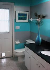 paint bathroom ideas just another day in paradise coral striped bathroom bathrooms
