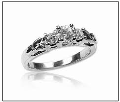 celtic engagement rings celtic engagement rings 3 setting