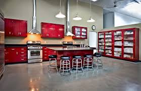 Red Painted Kitchen Cabinets Metal Kitchen Cabinets For Sale Steel Kitchens Archives Retro