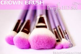 the crown brush purple hd brush set is available at the crown brush each set rels for 27 95 usd they also sell this exact kit in orange and