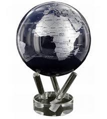 4 5 metallic silver black world globe