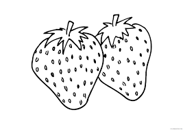 strawberry slice coloring pages coloring4free coloring4free com