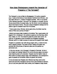 how does shakespeare present the character of prospero in the
