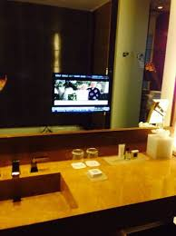 Bathroom Mirror With Tv by Bathroom With Tv In The Mirror Picture Of Jw Marriott Marquis