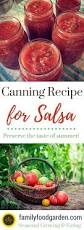recipe for canning salsa using fresh tomato