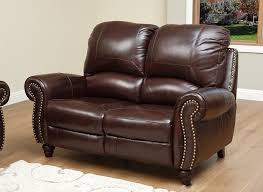 Loveseat Recliners Amazon Com Abbyson Durham Leather Pushback Reclining Loveseat