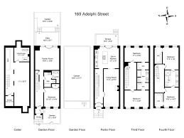 Narrow Townhouse Floor Plans Floorplan Brownstone Floorplans Pinterest Interior Design