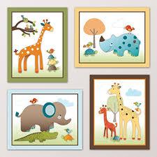 Giraffe Nursery Decor Giraffe Safari Jungle Animals Nursery Wall