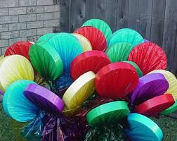 one set of eight large outdoor lollipop yard