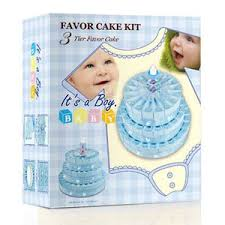3 tier baby shower favor cake kit it u0027s a boy favor cake kit