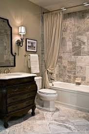 Bathroom With Beige Tiles What Color Walls Tub Surround Would Tie Into Wood Look Floor Blend Of Gray And
