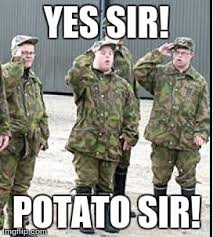 Meme Army - image tagged in potato army imgflip
