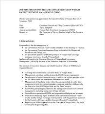 job description template ceo job description for bank free pdf
