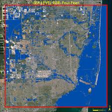 Sea World Map Maps Miami Sea Level Rise 1 6 Ft Miami Geographic