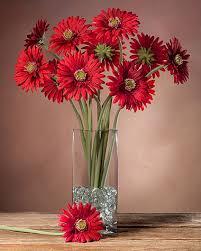 Gerbera Daisies Gerbera Daisy Silk Flower Stems For Arranging At Petals