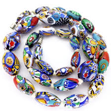 bead necklace ebay images Vintage art deco moretti millefiori rooster cane glass bead jpg