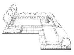L Shaped Garden Design Ideas Make The Most Of An L Shaped Garden With A Simple Design That