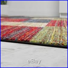 Extra Large Red Rug New Modern Rug Colourful Carpets Soft Pile Living Room Small Extra