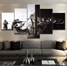 2017 large 60x32 5 panels rainbow six siege gaming poster canvas
