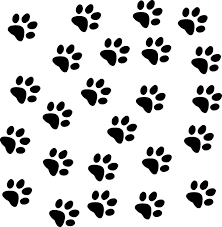 dogs leave paw prints on your heart cute puppy wall clip art library