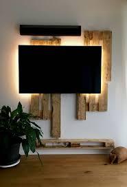 Beleuchtung Wohnzimmer Fernseher Die Besten 25 Tv Wand Aus Paletten Ideen Auf Pinterest Palette