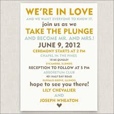 marriage invitation wording best of exle of wedding invitation wording informal wedding
