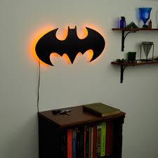 lighted batman logo wall art toddler room ideas pinterest