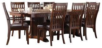 standard furniture artisan loft 9 piece dining room set aged