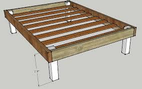 simple queen bed frame by luckysawdust lumberjocks com in wooden