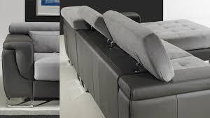 canapé d angle bi matière canapé d angle gauche cuir microfibre gris pas cher canapé angle