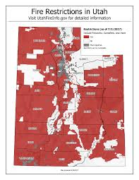 Counties In Utah Map by Most Of Utah Now In Fire Restrictions Utah State Parks