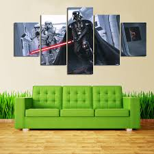 5 pieces sets canvas art new hd promotion fallout star wars darth