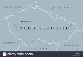 Central Europe Map by Czech Republic Political Map With Capital Prague National Borders
