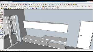 google sketchup tutorial part 04 living room modeling unit and