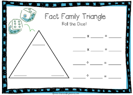 math fact families multiplication division fact family triangles free