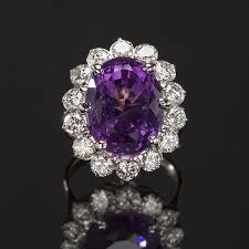 amethyst diamond engagement ring estate rings calhoun jewelers