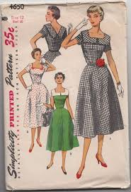 v shaped dress pattern fit and flared dress pattern simplicity 4650 square neckline v