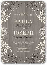 wedding invitations shutterfly lovely wood 5x7 wedding invitations shutterfly