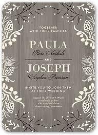 wooden wedding invitations lovely wood 5x7 wedding invitations shutterfly