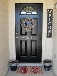 Black Front Door Ideas Pictures Remodel And Decor by Best 25 Front Door Decor Ideas On Pinterest Door Wreaths