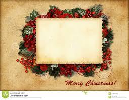 vintage christmas card stock illustration image gift 27375467
