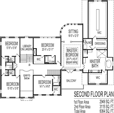 5 bedroom floor plans 2 story tremendous 11 faced 2 story 5 bedroom house plans plan 3397