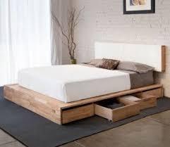 Wooden Framed Beds Simple Platform Beds Foter