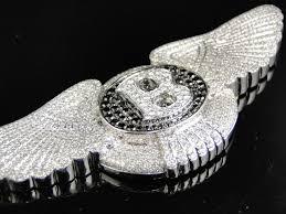 bentley diamond white gold custom made bentley flying b diamond charm pendant 11