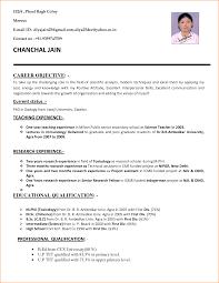 Resume Sample Kindergarten Teacher by 16 Cv Sample For Teaching Job Basic Job Appication Letter