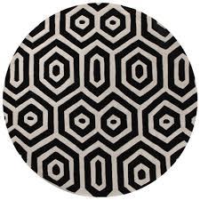 Black Circle Rug Rug Culture Honey Comb Black U0026 White Round Rug 150 X 150cm Round