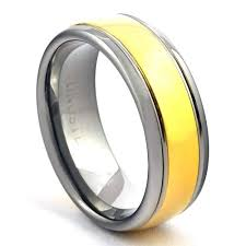 mens infinity wedding band wedding band tungsten ring for men 14k gold plated