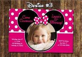 minnie mouse photo birthday party invitations mickey diy
