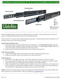 installation instructions for side mount gliderite drawer slides