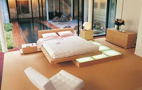 Wood Platform Bed Beech Wood Platform Bed Interior Design Ideas